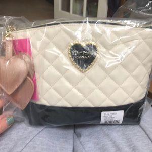NIB sealed Betsey Johnson clam pouch clutch purse